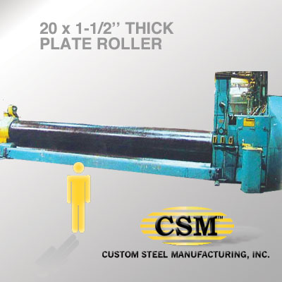 We can plate roll up to 20 feet  And angle roll too
